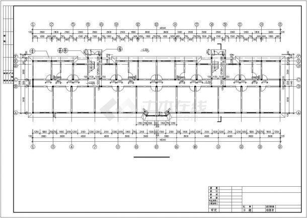 3200平米6+1层砖混结构住宅楼建筑设计CAD图纸(含半地下室层)-图一
