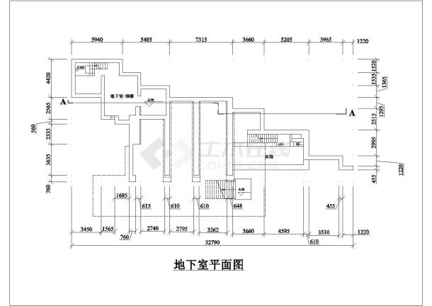 乡镇某多层流水别墅CAD全套施工设计图纸-图一