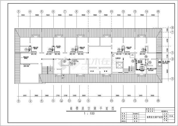 上海某科技公司5层办公楼全套空调系统设计CAD图纸-图二