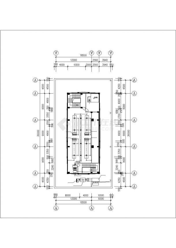北京海淀区某高层行政办公大楼VRV变频空调系统设计CAD图纸-图一