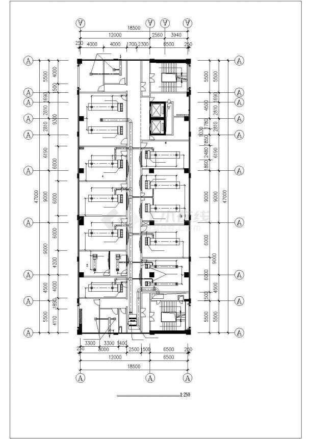 北京海淀区某高层行政办公大楼VRV变频空调系统设计CAD图纸-图二