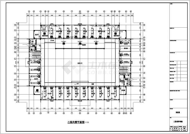 合肥市某工厂2700平米3层办公楼全套空调系统系统设计CAD图纸-图一