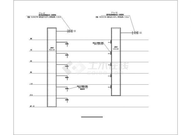 三亚市某旅游学校1万平米6层框架结构宿舍楼空调系统设计CAD图纸-图一