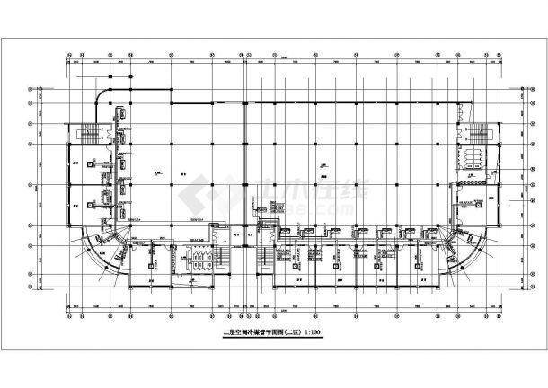 抚顺市某新建居住区内部配套公共建筑空调系统设计CAD图纸-图一