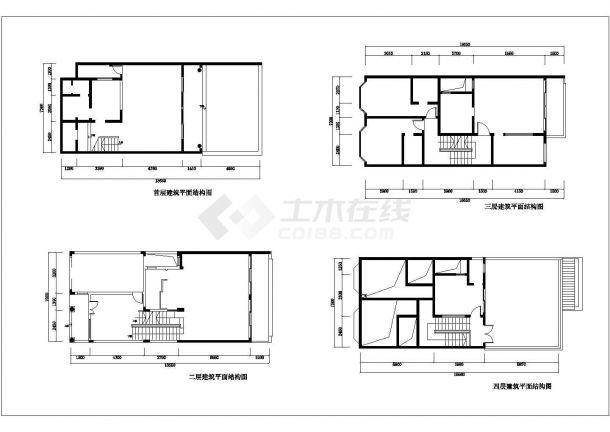 某地多层小栋别墅装修设计图纸-图一