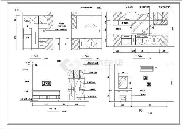 某地别墅全套装修结构设计图纸-图一
