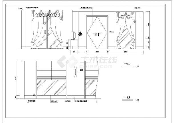 某地别墅全套装修结构设计图纸-图二