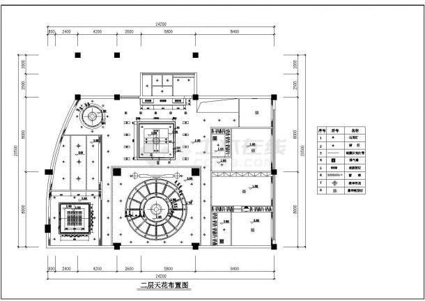 某浅塘区别墅全套装修设计图纸-图二