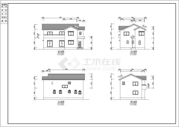 某地实木制别墅建筑装修设计图纸-图二