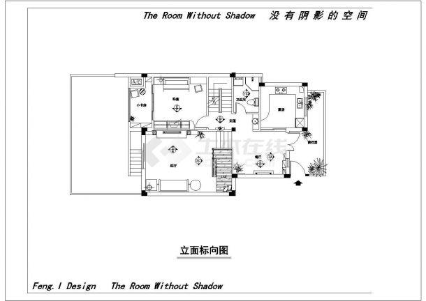 某地欧式别墅装修结构设计图纸-图二