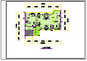 四层办公楼室内装修cad平面施工图-图一