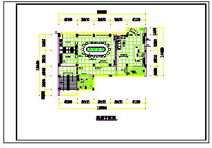 四层办公楼室内装修cad平面施工图-图二