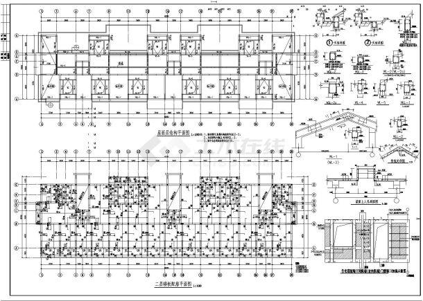 某商业住宅楼砖混结构施工图CAD详图-图二