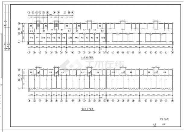 某市住宅楼砖混土建建筑结构施工图CAD详图-图一