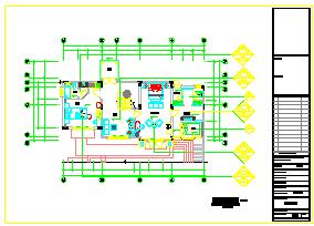 夏威夷别墅室内装修cad平面设计施工图纸-图二