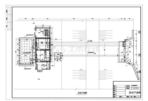 【浙江】排涝泵站拆建工程全套施工图(含效果图)-图一