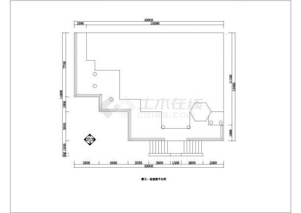 某蒙古市二层别墅建筑装修设计图纸-图一