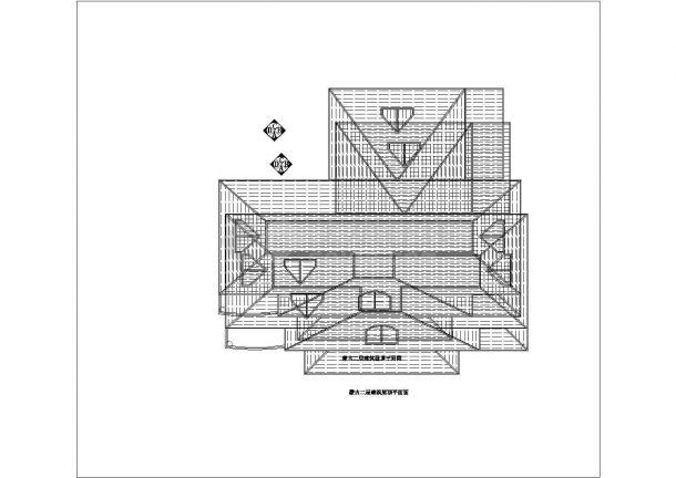 某蒙古市二层别墅建筑装修设计图纸-图二