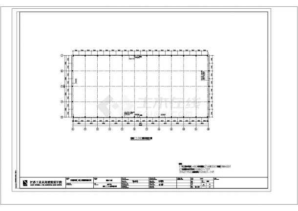 某地大型古比雪夫主厂房结构设计图纸-图二