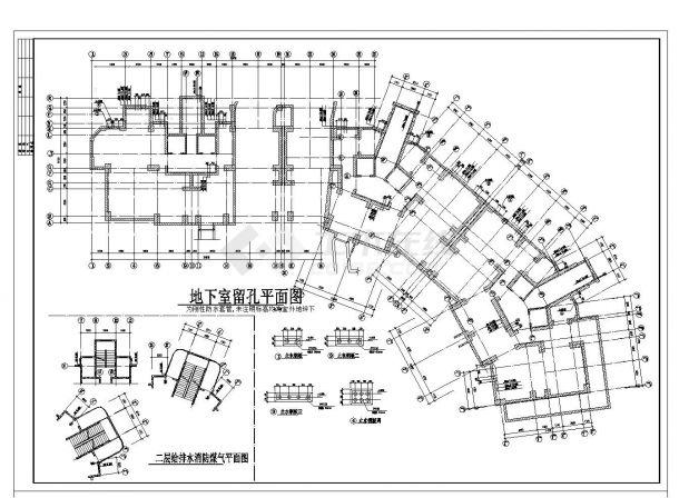 上海市某经典小高层楼房结构施工图CAD参考详图-图一