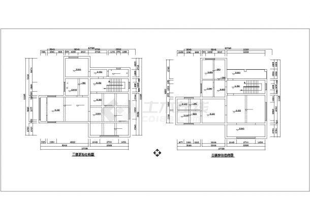 珠海市汉江新村某4层框架结构单体别墅装修装饰平面设计CAD图纸-图一