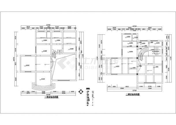 珠海市汉江新村某4层框架结构单体别墅装修装饰平面设计CAD图纸-图二