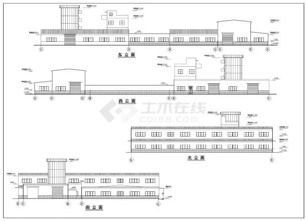 某市建筑工程混凝土主车间建筑结构施工图CAD详图-图一