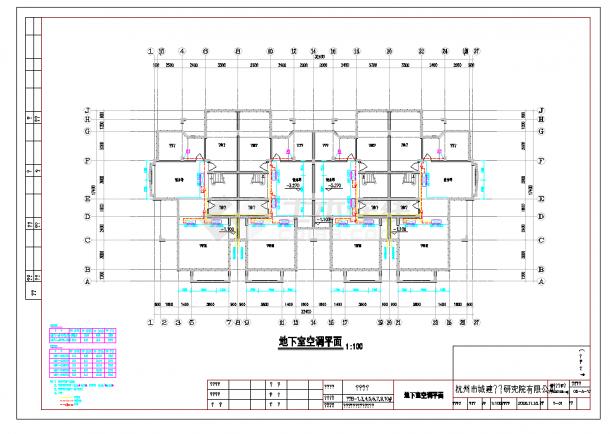 某地多层某商城整套中央空调系统cad平面施工图纸-图一