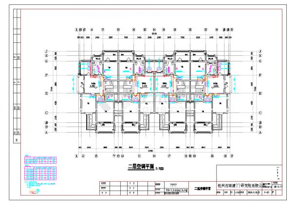 某地多层某商城整套中央空调系统cad平面施工图纸-图二