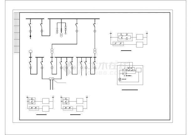 某地区火灾报警系统施工CAD图纸-图一