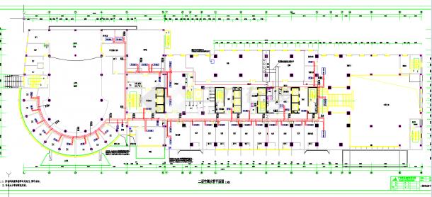 某地多層某五星賓館地下2層全套空調通風系統設計cad平面圖紙-圖一