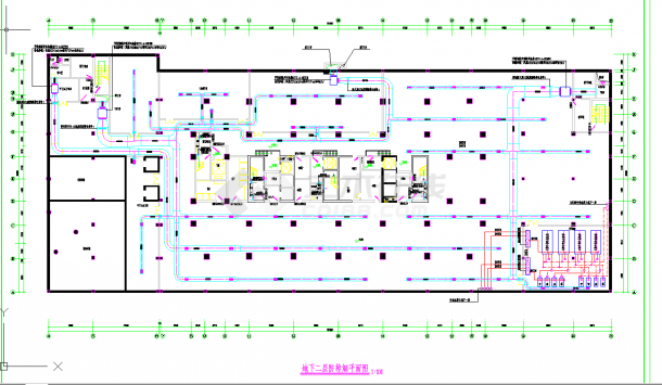 某地多層某五星賓館地下2層全套空調通風系統設計cad平面圖紙-圖二