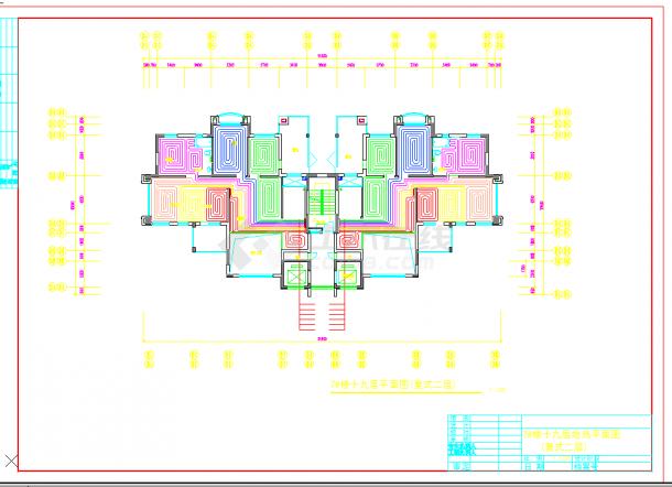 某地多层某住宅小区高层地热设计cad详细施工图纸-图一