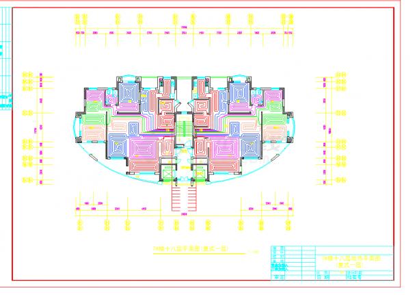 某地多层某住宅小区高层地热设计cad详细施工图纸-图二