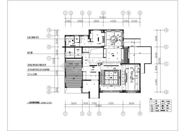 某市多层高级别墅装饰结构设计图纸-图一