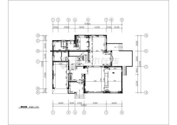 某市多层高级别墅装饰结构设计图纸-图二