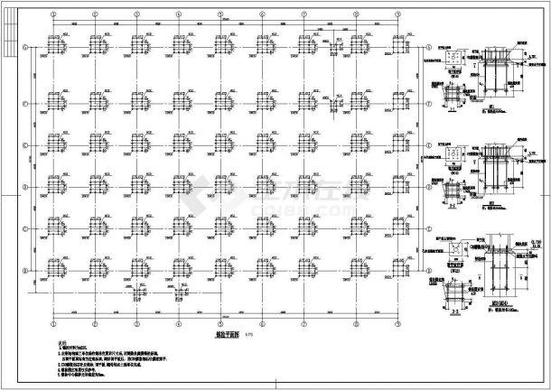 6883.6平方米钢结构公司车间结构施工图-图一