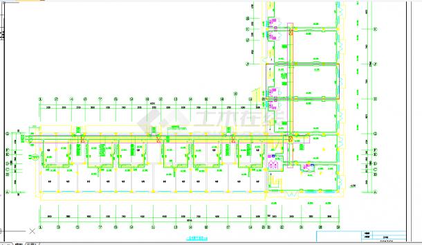某地多层住宅楼采暖系统cad设计施工图纸-图一