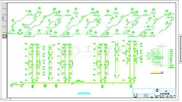 某地多层住宅楼采暖系统cad设计施工图纸-图二