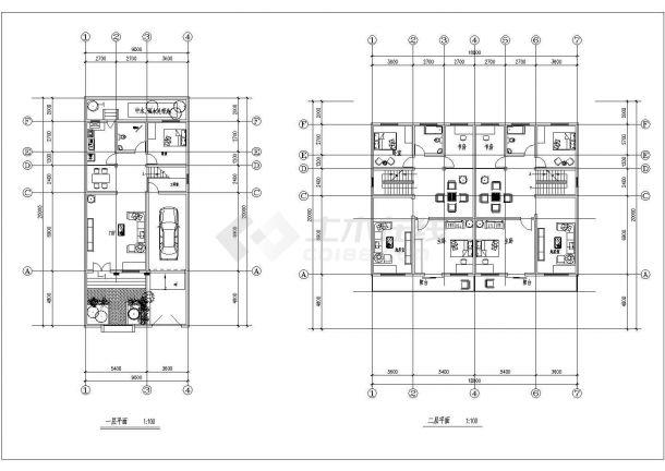 福州新农村住宅设计方案全套施工cad图-图二