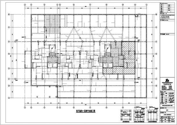 某地下室结构设计方案CAD图纸-图二