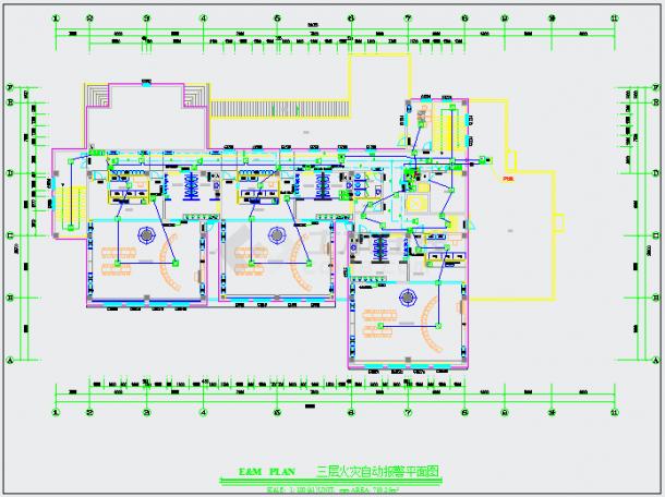 某幼儿园消防报警系统布置CAD详图-图一