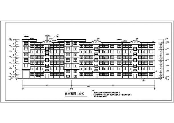 某地多层粮库住宅楼建筑设计图纸-图一