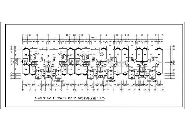 某地多层粮库住宅楼建筑设计图纸-图二