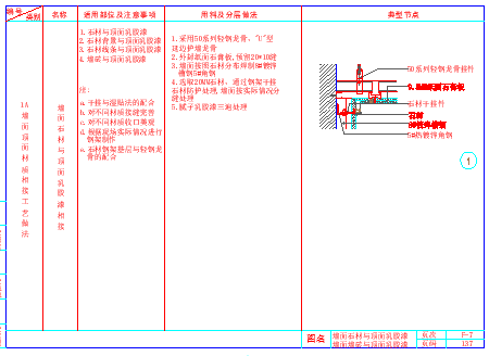 室内装饰工程通用cad墙顶相接节点详图-图二