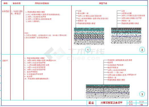 室内装饰工程通用节点地面节点cad详图-图二