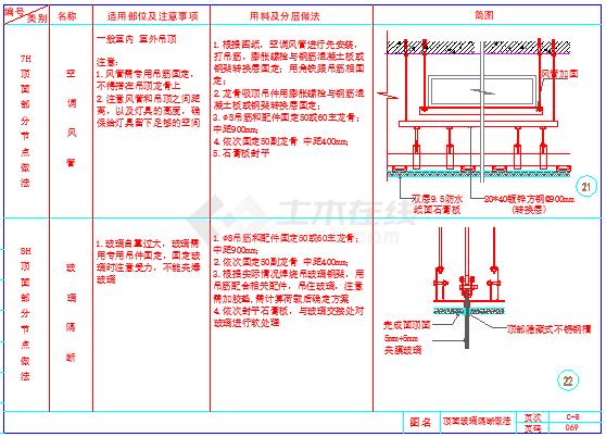 室内装饰工程通用隔墙节点cad详图-图二
