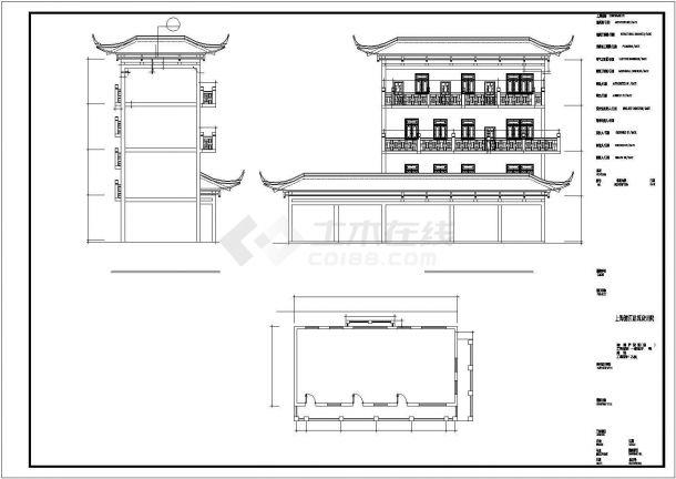 天山茶城商铺楼全套装饰施工设计cad图(含各层平面图)-图二