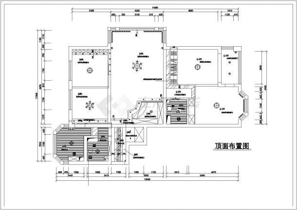 某家居室内装饰装修设计CAD施工图-图一