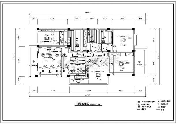 阳光花园小区住宅楼全套室内装修施工设计cad图(含给水布置图)-图一